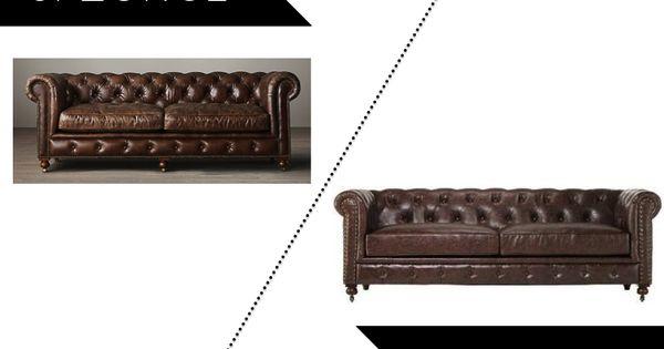 Splurge Vs Steal Sunday Tufted Leather Sofa Restoration Hardware Petite Kensington Leather