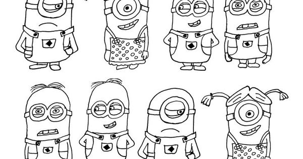 minions family coloring pages - photo#14