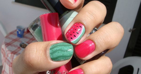 #watermelon summer nailart