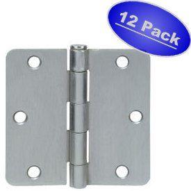 Cosmas Satin Nickel Door Hinge 3 5 With Images Door Hinges Hinges Home Hardware