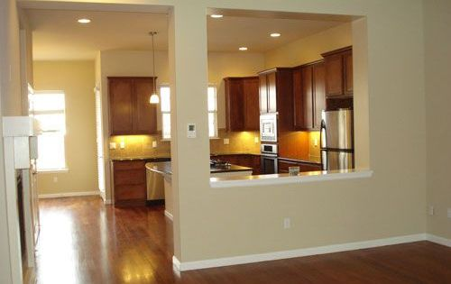 kitchen with half wall to dining room   Google Search. Half wall between kitchen and living room  remove wall between