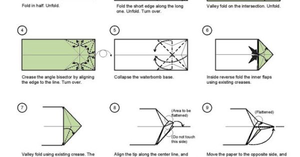 hammerhead shark diagram  1 of 2  money dollar origami Origami Tiger Shark Origami Square Diagram