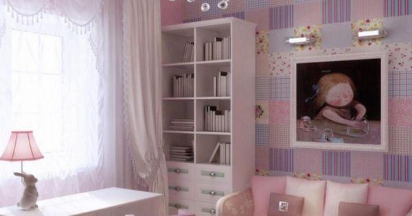 Chambre petite fille superbe en mauve rose pastel et - Chambre en mauve ...