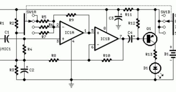 how to build room noise detector  circuit diagram