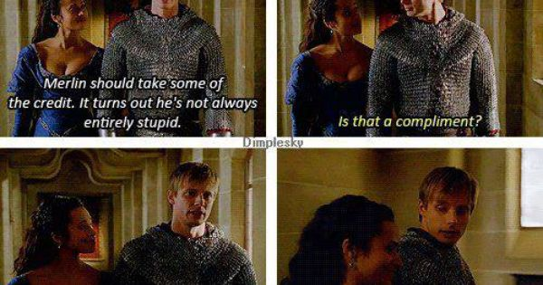 Gwen And Arthur Merlin This Scene Was So Cute Loved