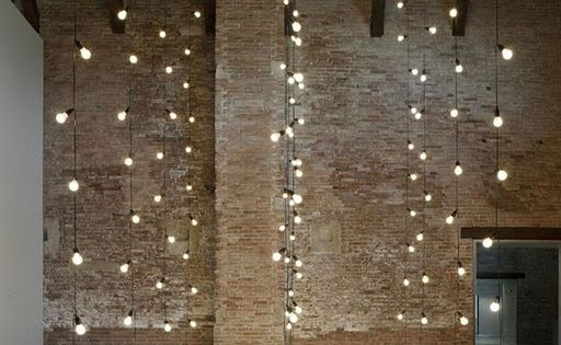 Lights hanging from the the brick ceiling Lights Pinterest Ceiling, Bricks and Lights