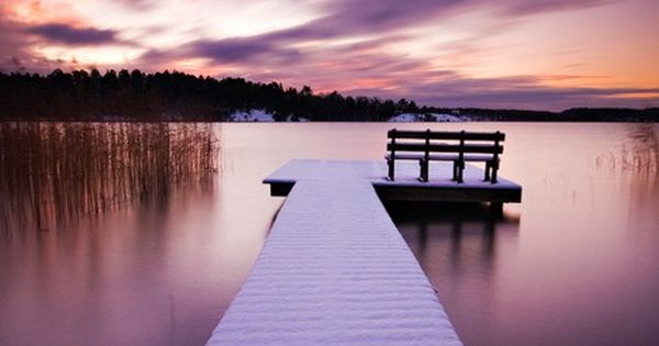 beautiful photo Decks of Resort Cottages ,Winter Jetty, Stockholm, Sweden