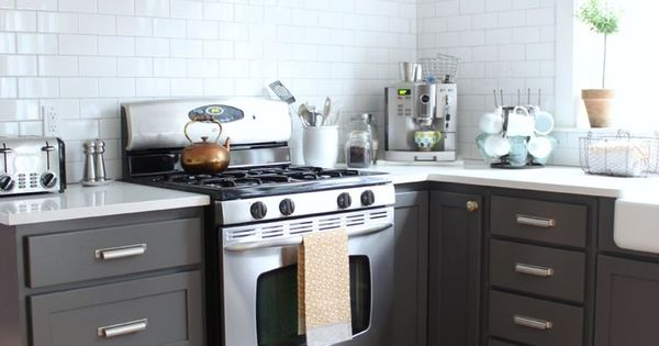 Charcoal painted kitchen cabinets dream home pinterest for Charcoal painted kitchen cabinets