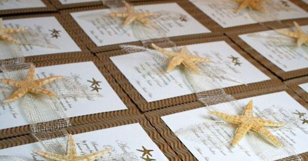 Partecipazioni Matrimonio Spiaggia : Beach wedding invitation partecipazioni matrimonio in
