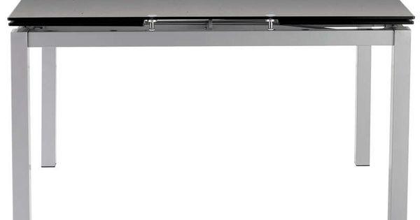 Table rectangulaire avec allonge 200 cm max cuisine for Table qui s allonge