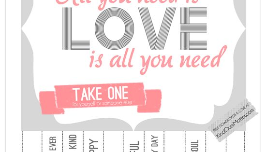 Love Is All You Need Printable Poster
