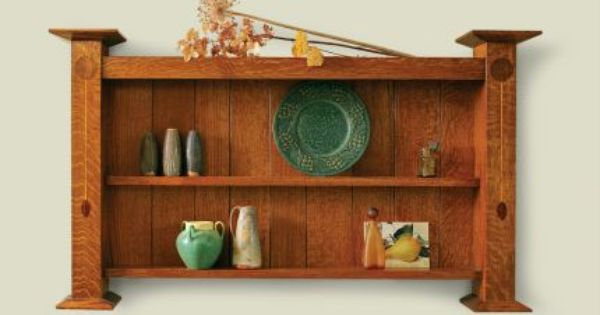 Arts and crafts wall shelf plans mission furniture plans for Craftsman furniture plans