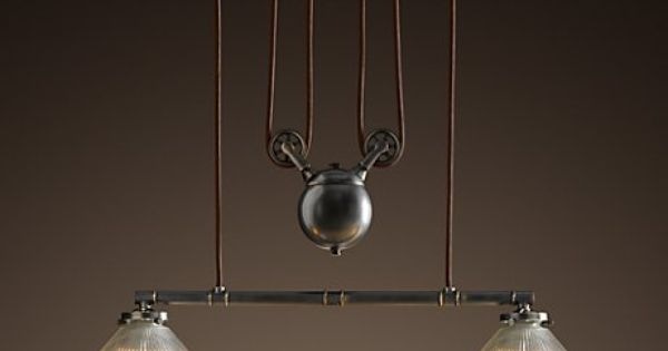 pulley with counter weight for pendant lights different. Black Bedroom Furniture Sets. Home Design Ideas