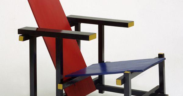 Silla roja y azul 1918 gerrit rietveld artistas y for Silla roja y azul