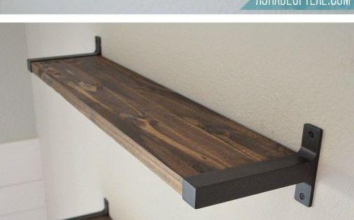 Best Rustic Diy Bookshelf With Ikea Ekby Brackets A Shade Of 400 x 300