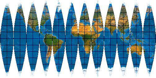 Kartennetzentwurfe Kartenprojektionen Globussegmente Puppenhaus Miniatur Tutorials Projektion Globus