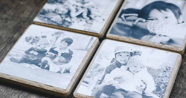 Coasters Made Of Ceramic Tile With Photos Decoupaged On