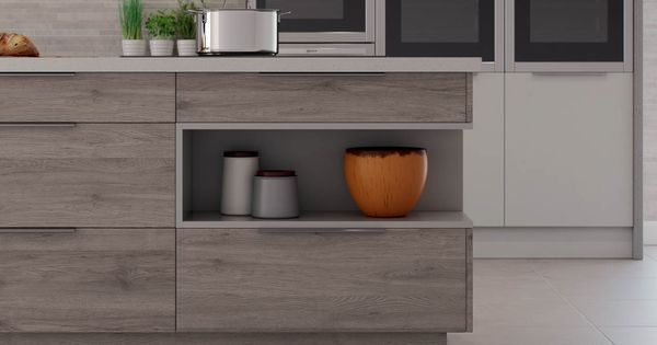 Use Open Shelving Units On Your Island This Works Really Well With Modern Kitchen Design Such