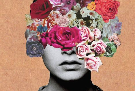 Inspiring picture abstract, art, flowers, girl, head. Resolution: 468x515 px. Find the
