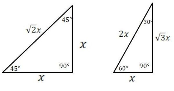 Special Right Triangles Use As An Extension To Conventional Pythagorean Theirem Gre Math Right Triangle Geometry Lessons