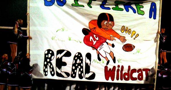 photo gift ideas for senior football - Football run through sign WALNUT WILDCATS one of last