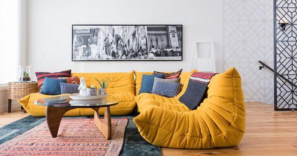 canap togo ligne roset jaune canap s et ligne roset. Black Bedroom Furniture Sets. Home Design Ideas