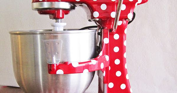 Have mercy! Polka Dot your Kitchen Aid Mixer {Kitchen}- cute idea!