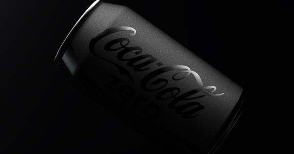 Murdered Out Matte Black Coke Can packaging design