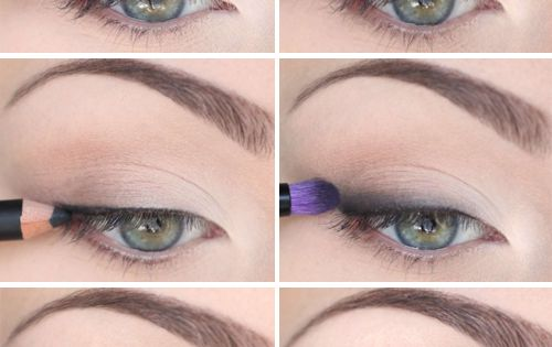 natural makeup look. first apply natural light beige/creme colour on your lid,