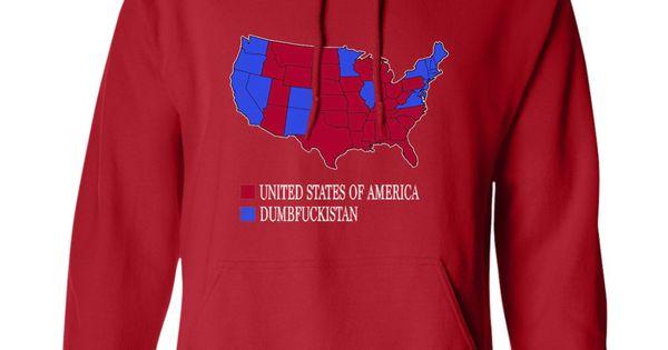 Dumbfuckistan TShirt City Vote Map United States Of America MHW - Tee shirt us map dumbfuckistan