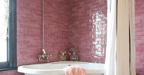 D coration int rieure salle de bain bathroom couleur for Vieux carrelage salle de bain
