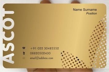 A Frosted Clear Plastic Card Printed In Metallic Gold And Black Business Card Printer Cool Business Cards Credit Card Design
