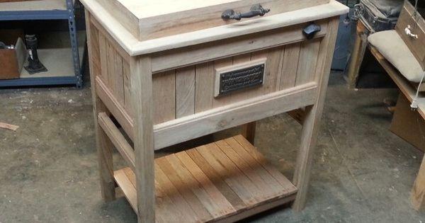 Wood cooler i built for customer furniture i built - Herreria ark ...