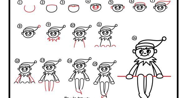 How To Draw An Elf On The Shelf - Art For Kids Hub - | Elf ...