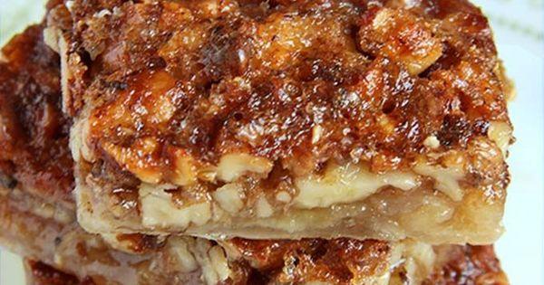 Easy Pecan Pie Bars | Crescent rolls, Pie bars and Pecan bars