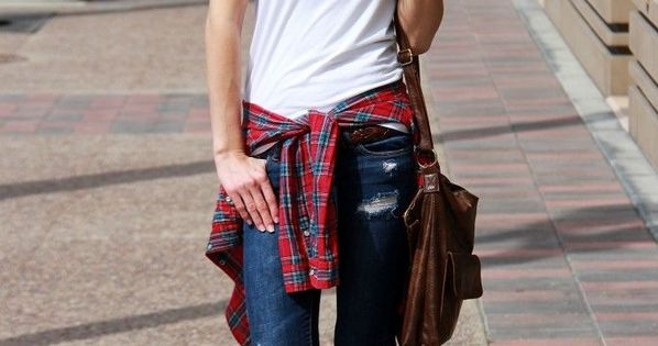 Basic items a?? such as the white shirt and skinny jeans a?? are the building blocks of fashion. Truly versatile, you can dress them up, or dress them down. | See more about White Shirts, Punk Chic and Plaid.