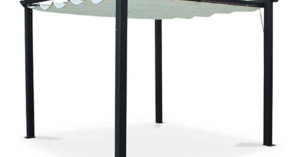 pour acheter votre tente de jardin pergola aluminium 3x3m condate cru toile r tractable. Black Bedroom Furniture Sets. Home Design Ideas