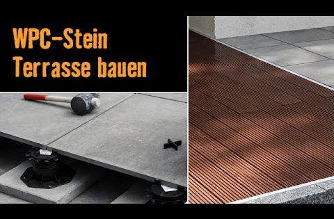 bau dir eine terrasse mit wpc dielen und feinsteinzeug platten mit dieser bau anleitung der. Black Bedroom Furniture Sets. Home Design Ideas