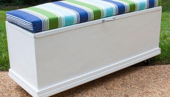 Build A Rolling Storage Bench Share Photos Pools And Decks