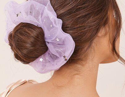 Scrunchie 6 x Halloween Fun Girls Hair bobbles