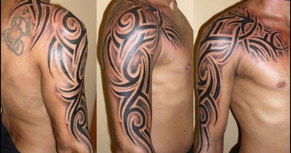 tribal shoulder sleeve tattoos tattoos pinterest shoulder sleeve tattoos tribal sleeve. Black Bedroom Furniture Sets. Home Design Ideas