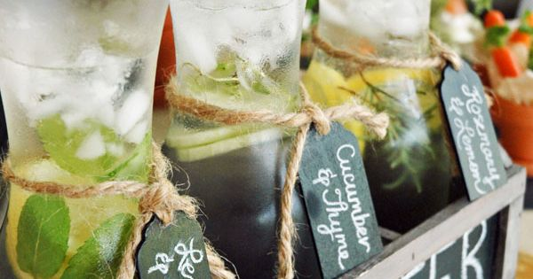Rooted in Love Garden Themed Bridal Shower - infused water