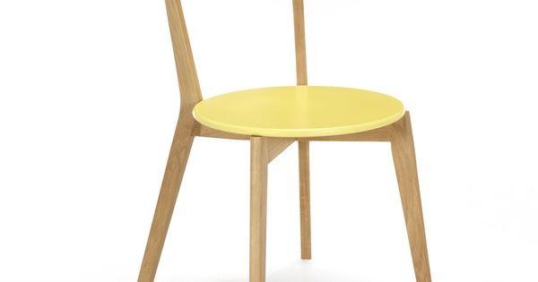 Chaise Design Scandinave Coloris Jaune Jaune Siwa