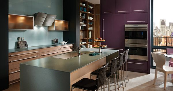 Vibrant Urban Kitchen From Wood Mode Small Kitchen Design