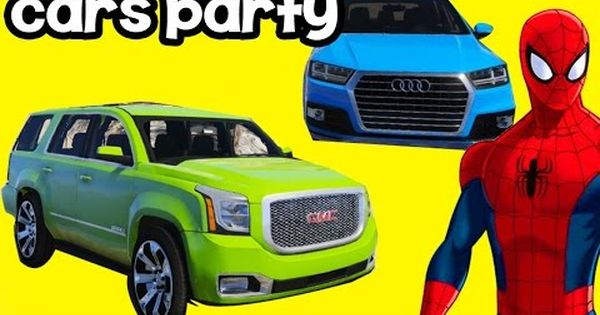 العاب سيارات سبايدر مان مع سيارة Gmc و Audi افلام كرتون للأطفال Cars Party Youtube Photography