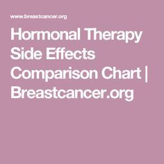 cancer hormonal therapy side effects