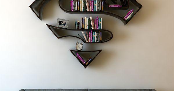 Superman 3d Book Shelf Idea 3 Creative 3d Bookshelf