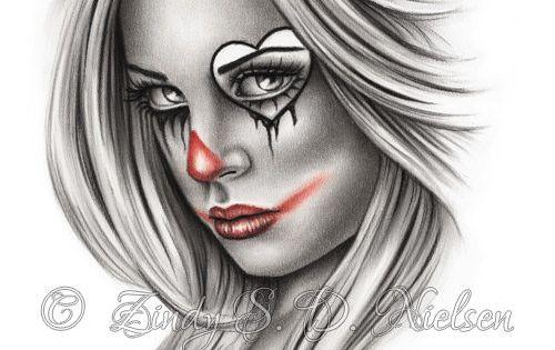 clown girl drawing - Google Search | InkMe | Pinterest ...