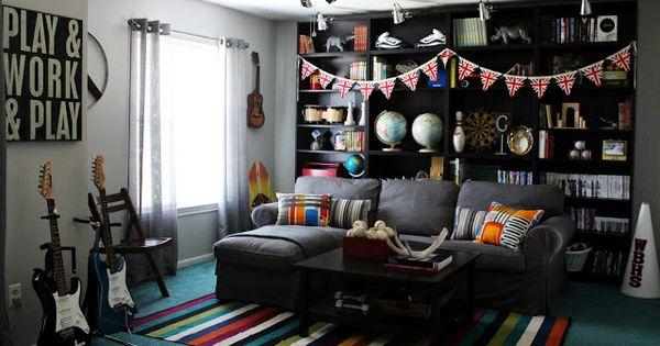 couleur chambre nathan ados pinterest salles de jeux ado et travaux. Black Bedroom Furniture Sets. Home Design Ideas