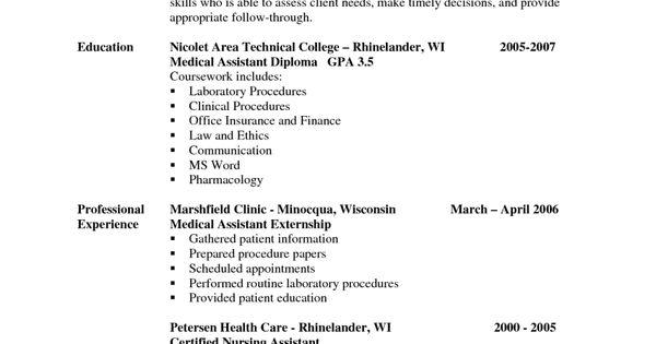 sample resume for patient care technician 17 nursing